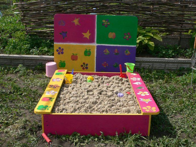 площадка с песком для детей на даче своими руками