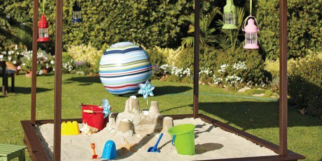 площадка с песком для детей дома своими руками