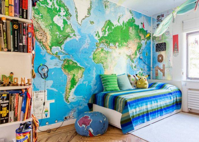 необычные обои обои в детскую комнату с рисунками