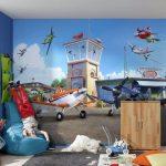 необычные обои в детскую комнату с картинками