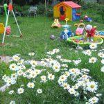 дизайн большой детской площадки с качелями