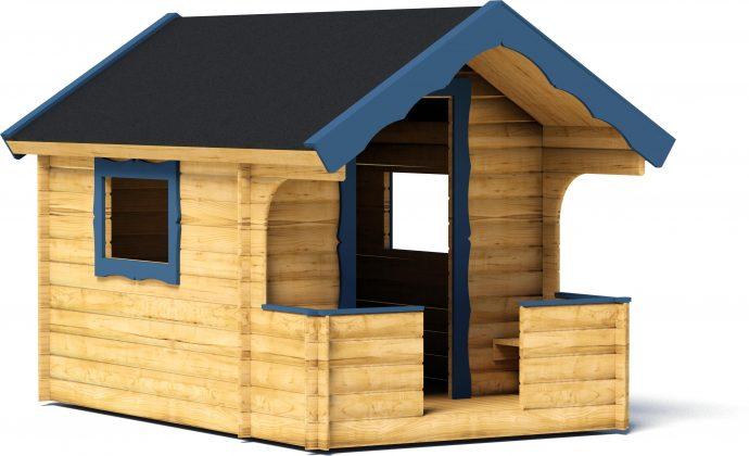 дизайн игрового домика из массива во двор