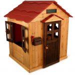 конструкция игрового домика из массива дерева для дома