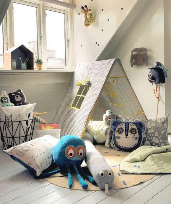 пример детской комнаты в скандинавском интерьере