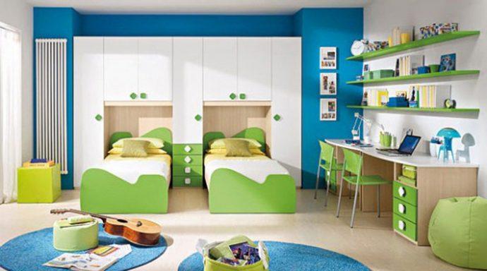 решение детской спальни для двоих детей