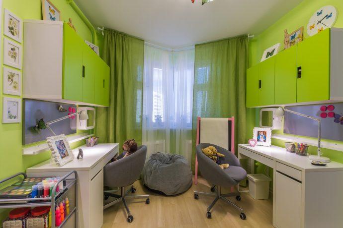 пример интерьера комнаты для детей для нескольких детей