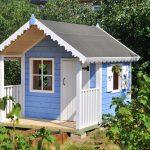 дизайн игрового домика из дерева для дома