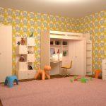 интерьер игровой комнаты в светлом стиле