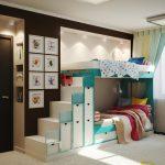 пример интерьера детской спальни для двоих детей