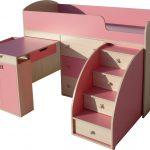 дизайн детской кроватки с выдвижным комодом