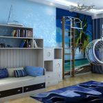 светлые шторы в детскую комнату в интерьере дизайн