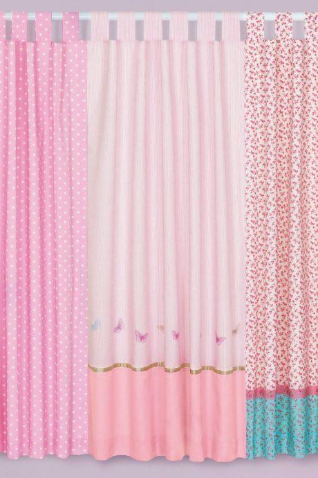 прозрачные шторы в спальню для девочки в интерьере комнаты