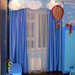 прозрачные шторы в детскую комнату в интерьере картинка