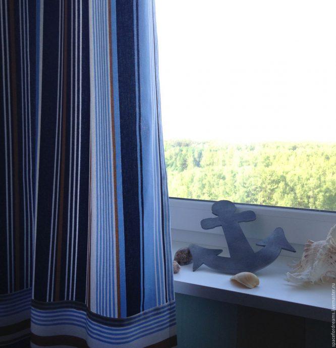 прозрачные шторы в спальню для мальчика в интерьере