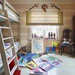 цветные шторы в детскую комнату для мальчика в интерьере спальни фото
