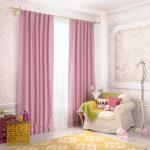 прозрачные шторы в спальню для девочки в интерьере спальни фото