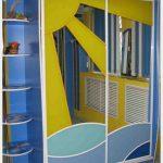 прозрачный шкаф в детскую комнату картинка