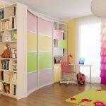 цветной раздвижной шкаф купе в детскую комнату фото
