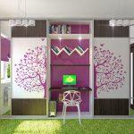 прозрачный шкаф купе в детскую спальню дизайн