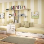 дизайнерское решение комнаты для детей для двойняшек