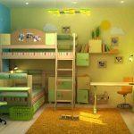 дизайн комнаты для детей для нескольких детей