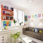 светлая комната в скандинавском дизайне