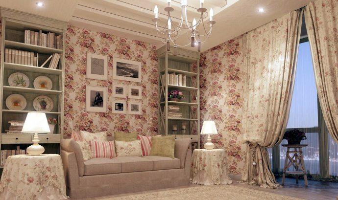 яркая спальня в дизайне прованс для принцессы
