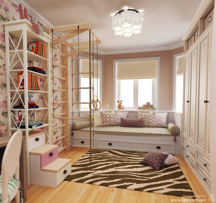шикарная детская комната в дизайне прованс для девочки картинка