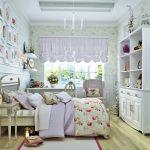 яркая детская спальня в дизайне прованс для принцессы фото