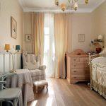 шикарная детская спальня в дизайне прованс для девочки картинка