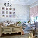 красивая детская комната в дизайне прованс для принцессы картинка