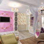 светлая спальня в стиле прованс для девочки фото
