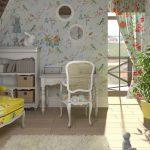 светлая детская комната в стиле прованс для девочки картинка