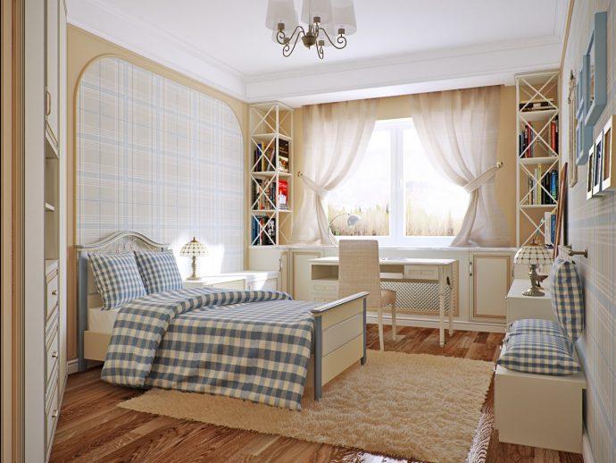 красивая детская спальня в стиле прованс для девочки фото