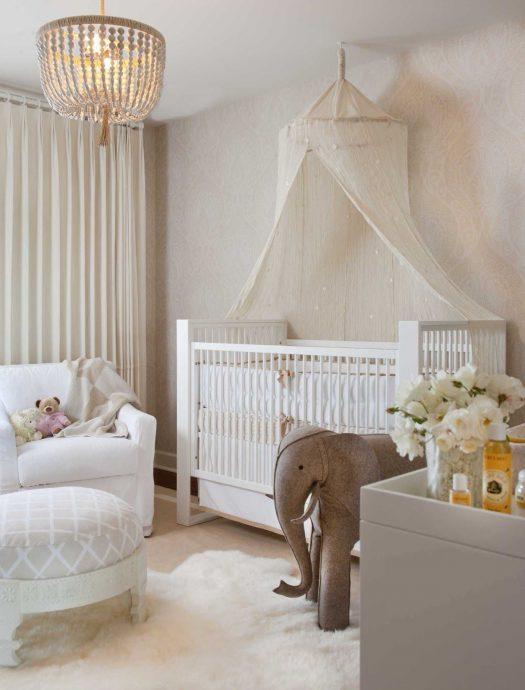 красивый балдахин на кроватку в дизайне комнаты