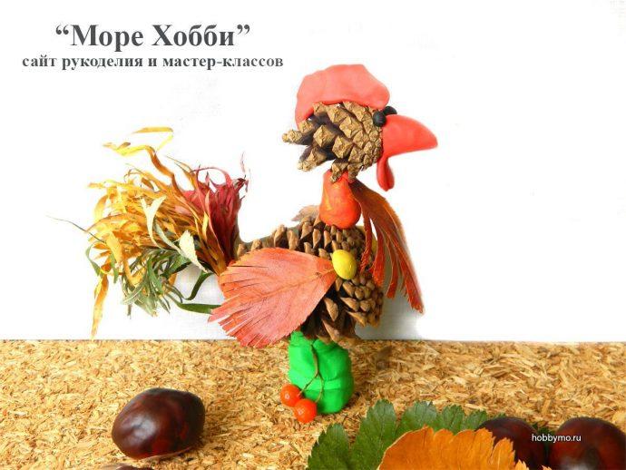 красивая игрушка из елки и шишки своими руками фото