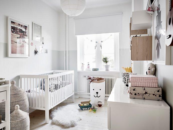 необычная комната в скандинавском интерьере