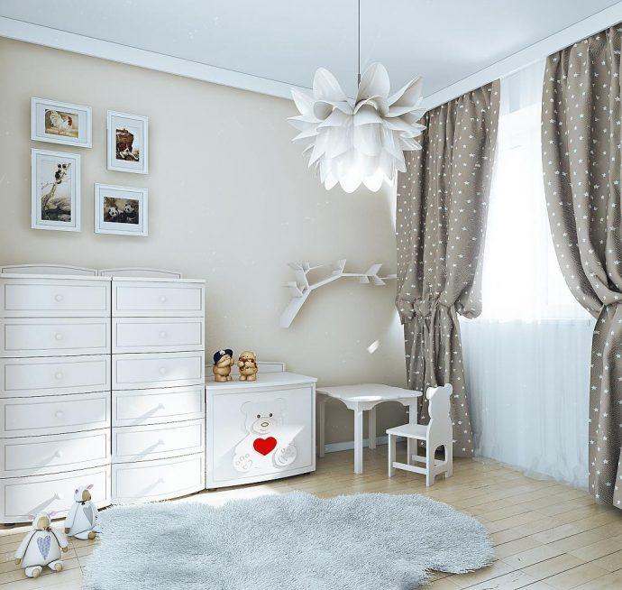 оригинальная комната в скандинавском стиле