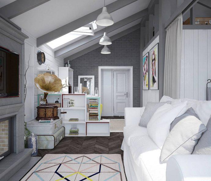 большая детская комната в скандинавском стиле