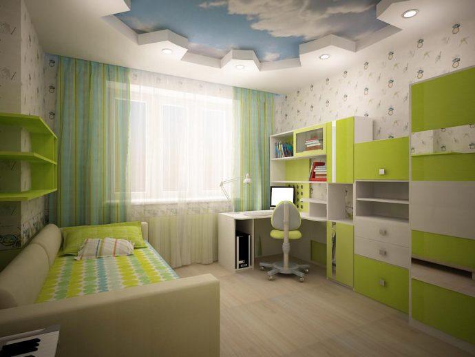 строгая комната для мальчика небольших размеров