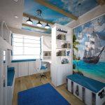красивая детская комната для мальчика небольших размеров фото