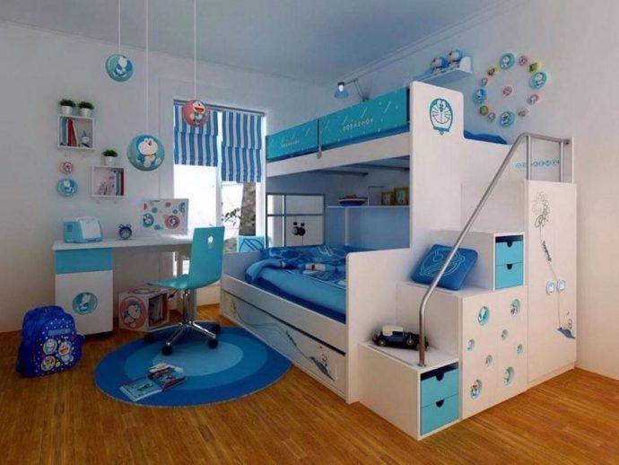 дизайнерская детская для двух мальчиков дизайн фото