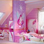 яркая детская комната для девочек фото