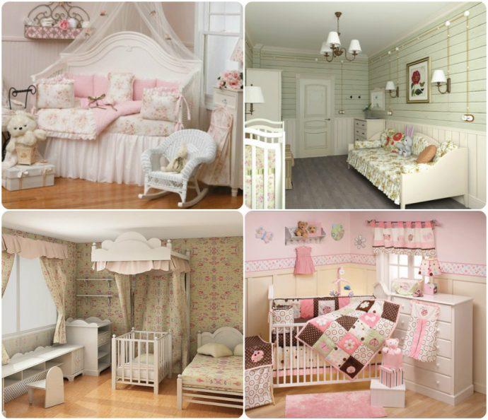 шикарная детская спальня в стиле прованс для девочки
