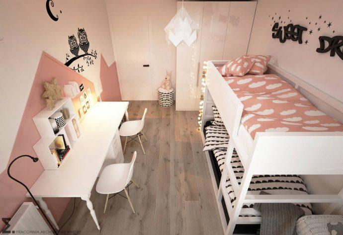компактная комната в скандинавском дизайне