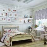 красивая детская комната в стиле прованс для принцессы фото
