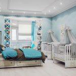 красивая кроватка в детской комнате