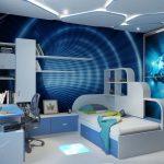 цветная детская мебель для мальчика в комнату пример фото