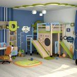 светлая детская мебель для мальчика в детскую комнату фото