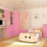 красивая детская мебель в детскую комнату для девочки фото дизайна